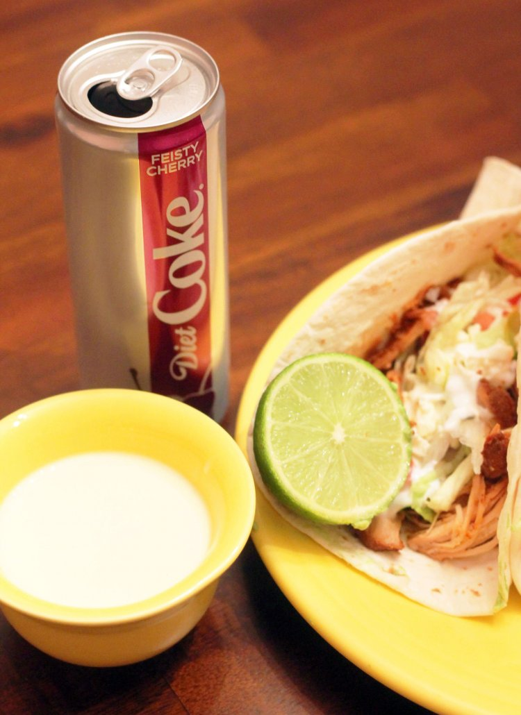 diet coke chicken tacos